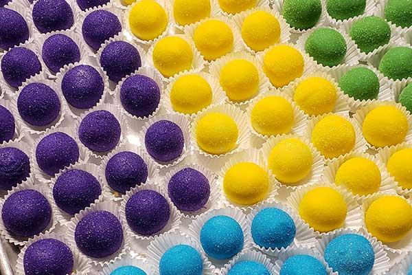 Mardi Gras Cake Balls